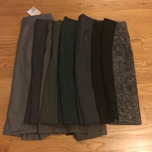 LOT of 7 H&M pencil skirts size 2, incld a NWT